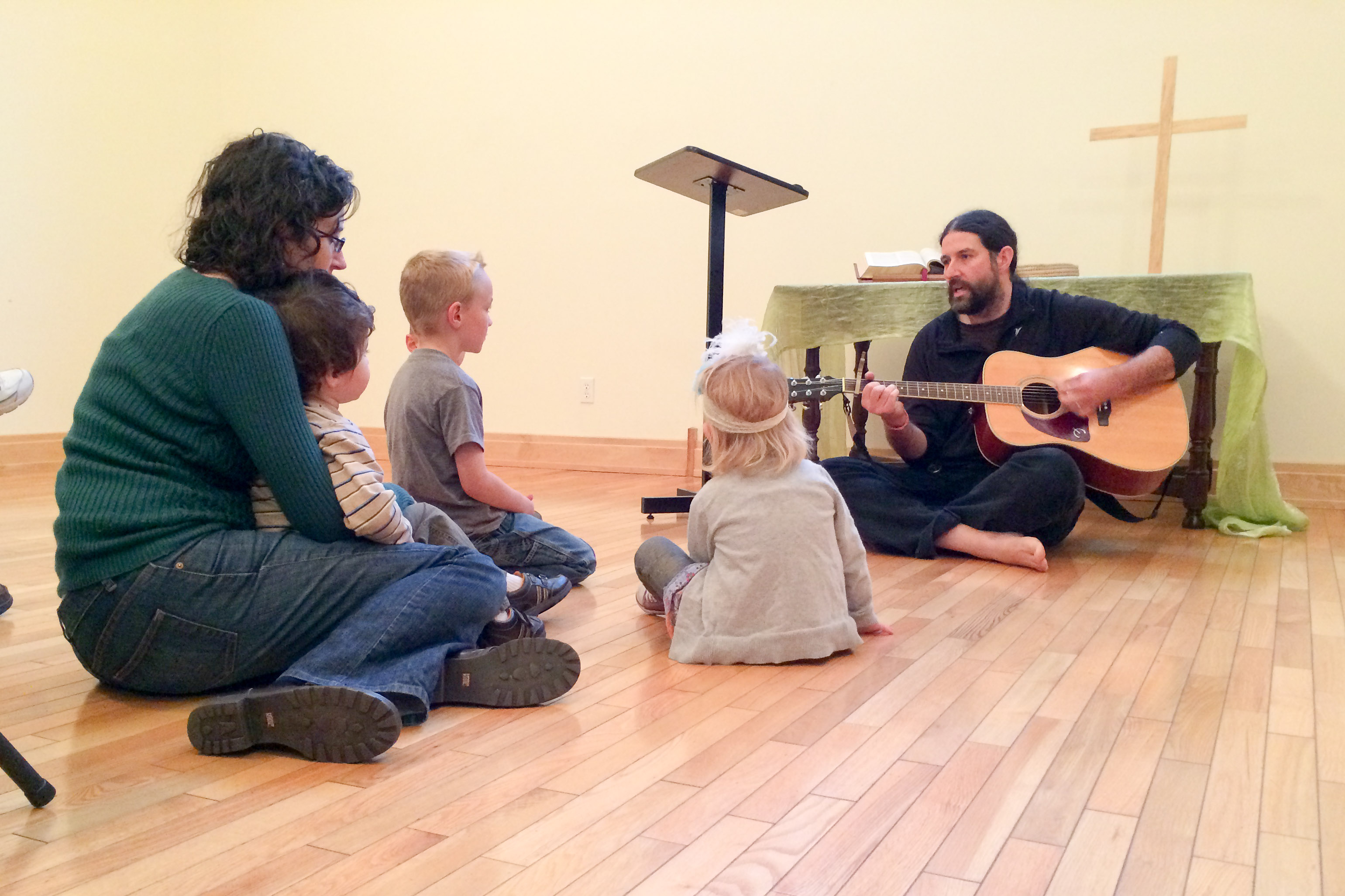 Story time with guitar